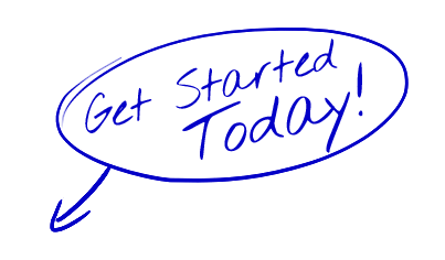 Get Started Today - Hand Drawn Blue