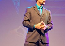 Speaking to an audience in South Africa